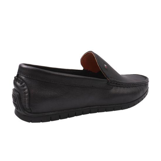 Туфлі комфорт чоловічі з натуральної шкіри, на низькому ходу, колір чорний, Arees