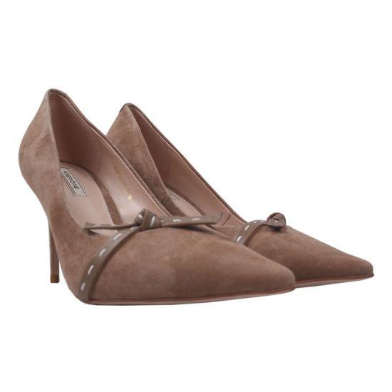 Туфлі комфорт жіночі Anemone Натуральна замша, колір бежевий