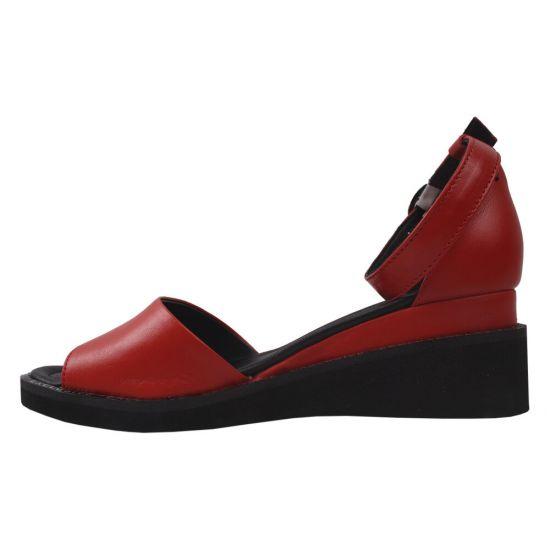 Босоніжки жіночі Trio Trend натуральна шкіра, колір червоний