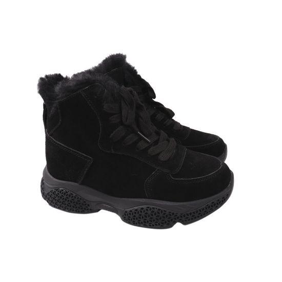Кросівки жіночі Farinni Натуральна замша, колір чорний