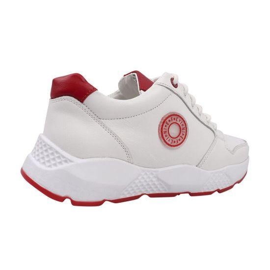 Кросівки чоловічі з натуральної шкіри, на низькому ходу, на шнурівці, колір білий, Brionis