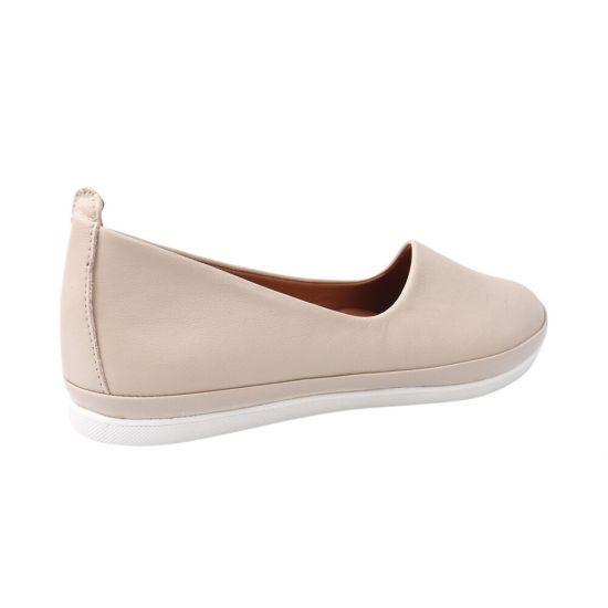 Туфлі жіночі з натуральної шкіри, на низькому ходу, колір бежевий, Gossi