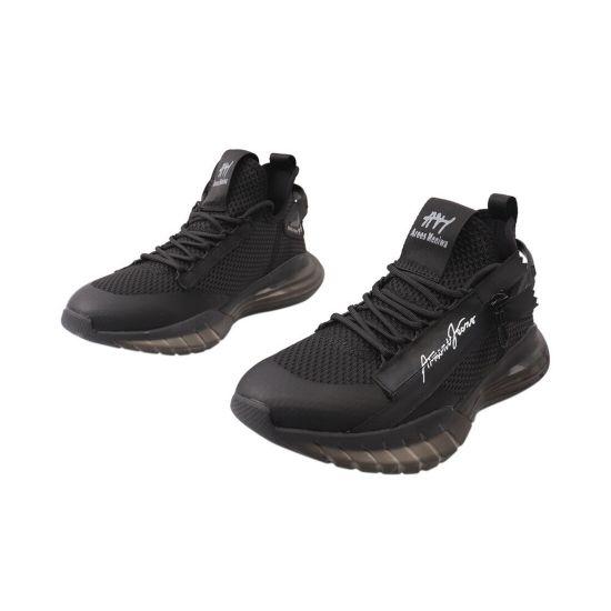 Кросівки чоловічі з текстилю, на низькому ходу, на шнурівці, колір чорний, Arees