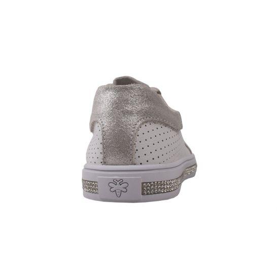Туфлі жіночі натуральна шкіра, колір срібло