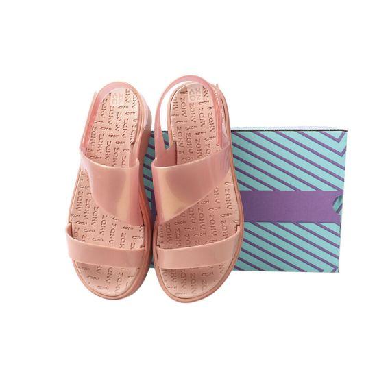 Босоніжки жіночі з гуми, на низькому ходу, з відкритою п'ятою, колір рожевий, Бразилія Grendene