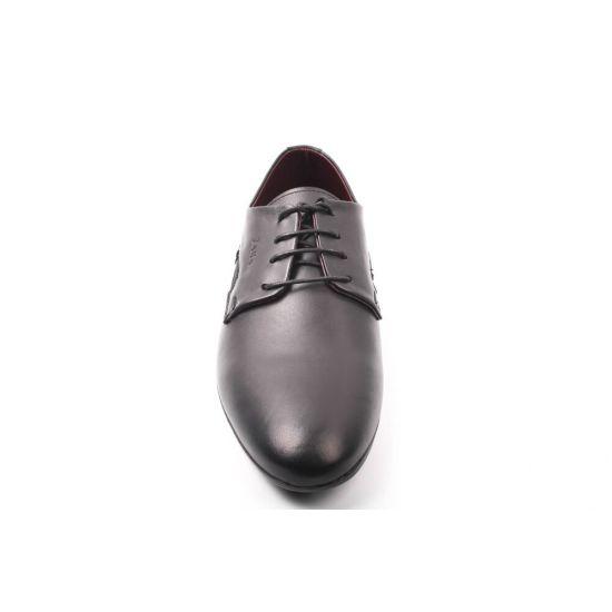 Туфлі ZARA натуральна шкіра, колір чорний